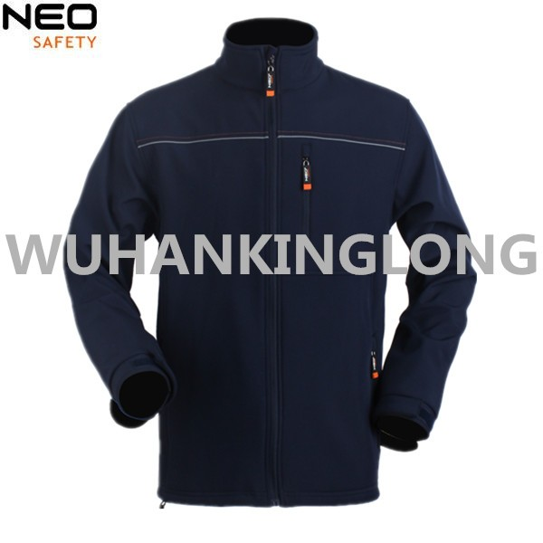 Fashion Softshell Jacket with Reflective Stripe For Worker