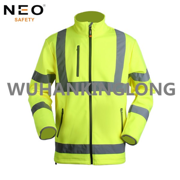 HIVI Yellow 3 Layers Softshell Jacket