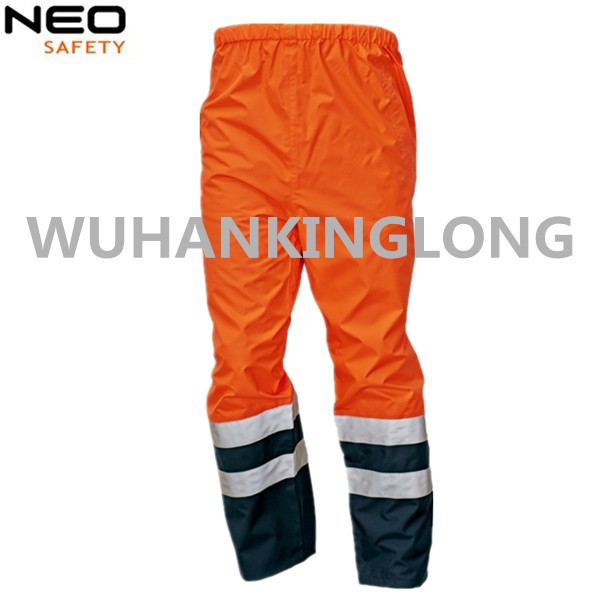 Hi Vis Orange Working Cargo Pants with Reflective Tape