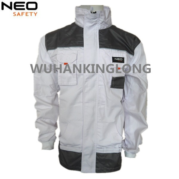High Quality White Painters Working Jacket