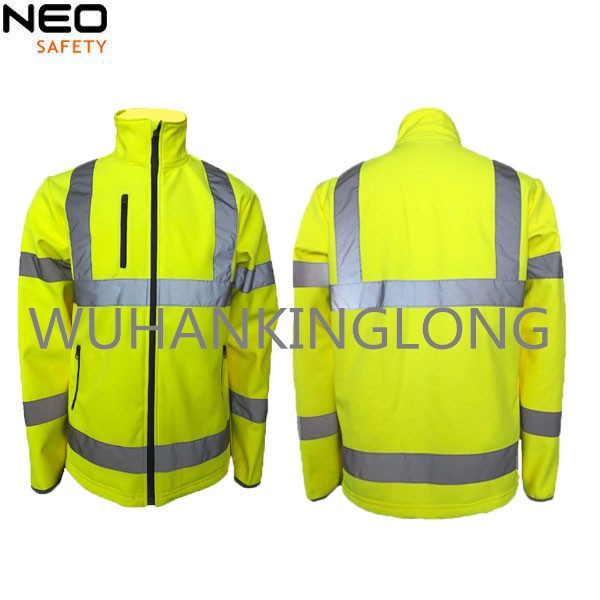 High Visibility Safety Softshell Jacket with Reflective Tape
