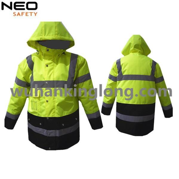 High Visibility Yellow Waterproof Winter Jacket