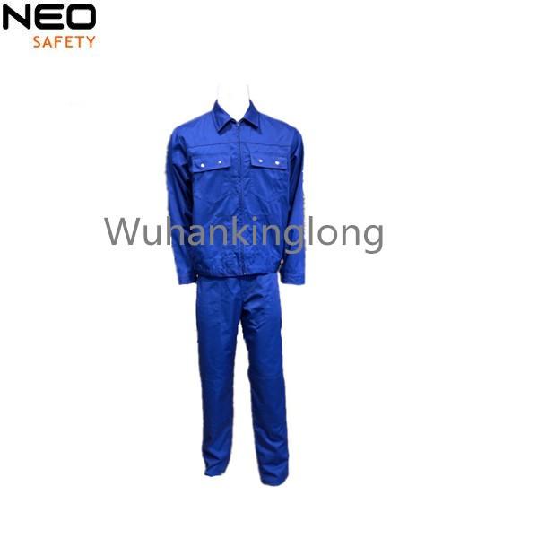 High quanlity Triple stitched Blue Uniform Men's jacket and pants