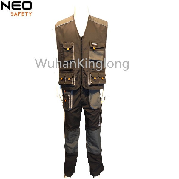 Manufacturer supply top quality mens workwear vest and pants