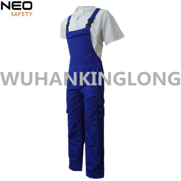 Mens Blue Workwear Bib Overalls Bibpants