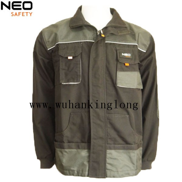 Mens Canvas Workwear Jacket with Multi Pocket