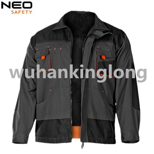 Mens Jacket High Quality Canvas Work Jacket with reflective stripes