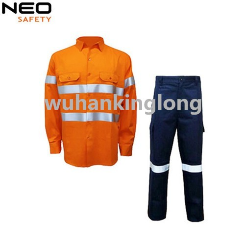 New Style Men's Suits Pant Shirt Hi Vis Safety Suits