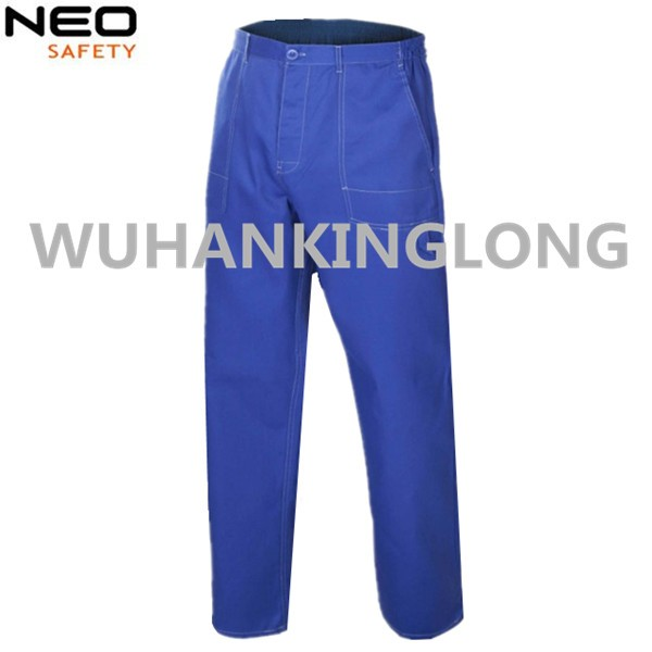 Royal Blue Workwear Cargo Pants with Side Pockets