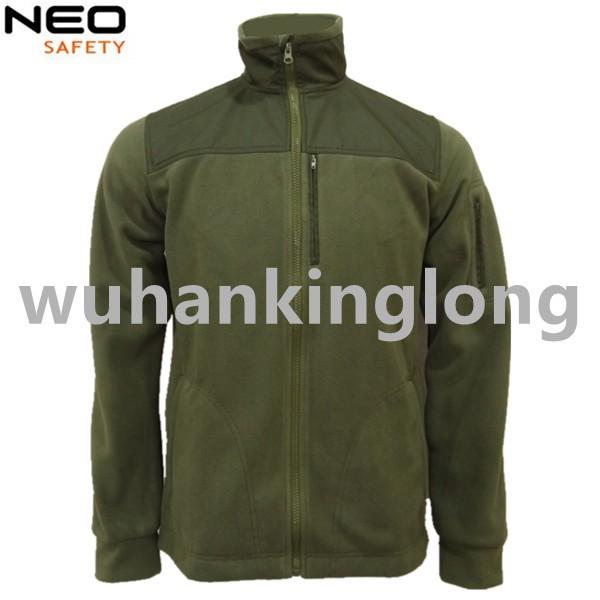 Simple Polar Fleece Jacket with oxford fabric