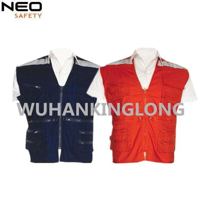 Various PVC zippers Men's reflective with vest