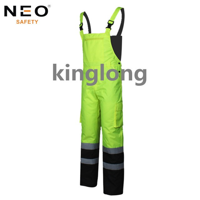 Waterproof HIVI Yellow Workwear Winter Bibpants