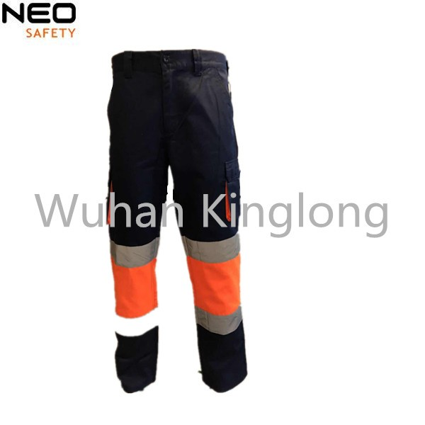 HIVI Orange Cargo Pants with Reflective Tape