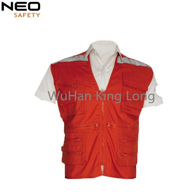 Mens Safety Working Vest With Reflective Tape Made In China