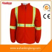 Orange Reflective Polar Fleece Jacket with Nylon Zipper